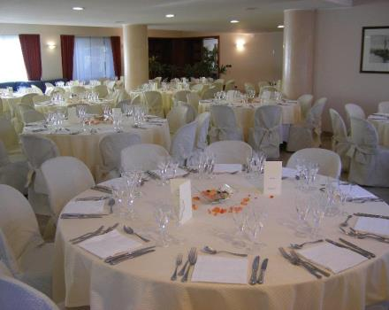 visconti laden room for special occasions, the hall can hold 220 people